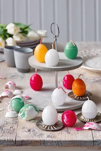 Z vyfouklých vajíček si můžete udělat svíčky