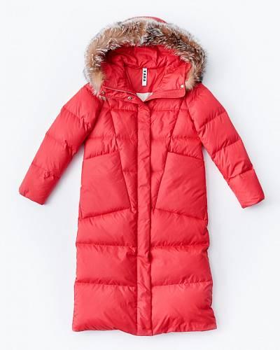 Péřový kabát s kožešinou, Kara, 9990 Kč