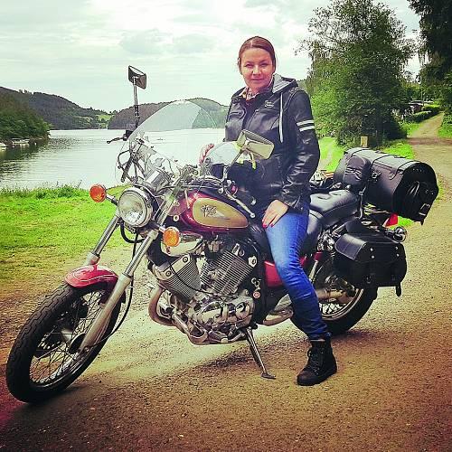 Motorka je Jolanina vášeň.
