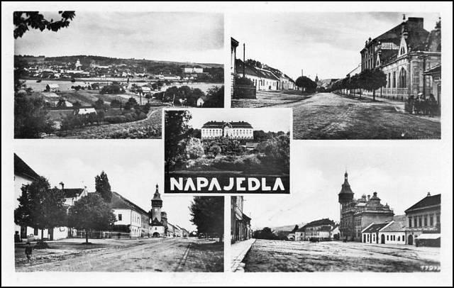 Fotografie Napajedel z roku 1930- kde vyrůstala matka a teta paní Dulové