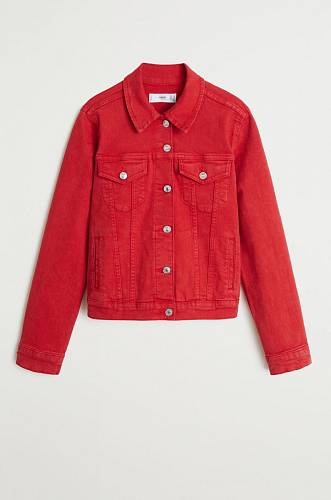 Červená džínová bunda, info o ceně v obchodě