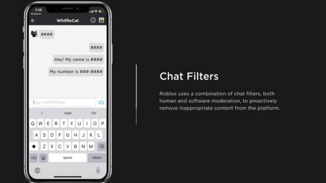 V chatu Robloxu jsou nastavené filtry, které zamezí osobním otázkám. Chat však můžete zcela vypnout.