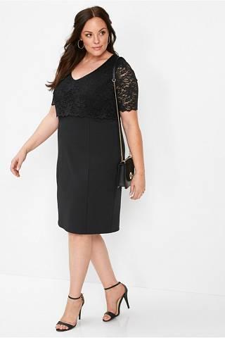 Pouzdrové černé šaty do práce i do společnosti