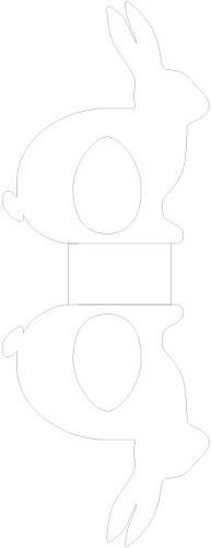 Jmenovky ve tvaru zajíčků (šablona)