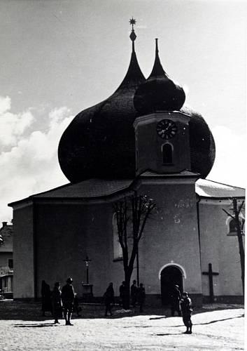 Kostel v Železné Rudě před 2. světovou válkou