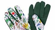 Rukavice s koženými dlaněmi do svojí zahradní kolekce zařadila i herečka a milovnice přírody Kateřina Winterová.