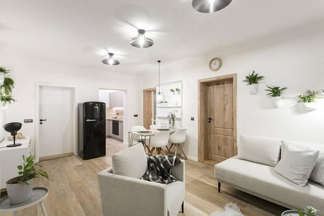 Obývací pokoj po rekonstrukci