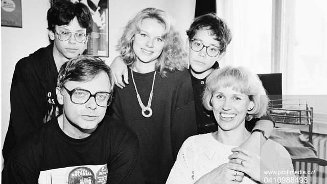 Karel Smyczek s rodinou