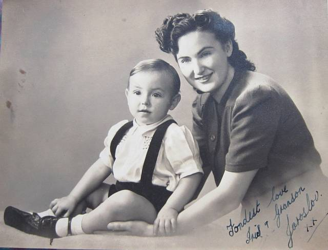 Anglická manželka Iris a syn Jaroslav švagra Václava Ruprechta, který padl jako letec RAF nad Anglií