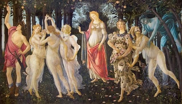 Nejslavnější Jaro je Primavera od Sandra Botticelliho.