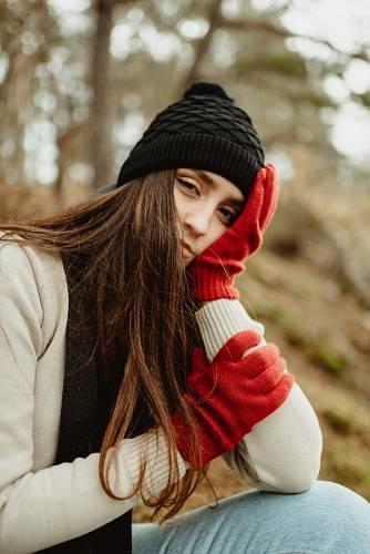Pletené zimní doplňky