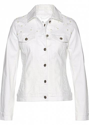 Bílá džínová bunda, 999 Kč