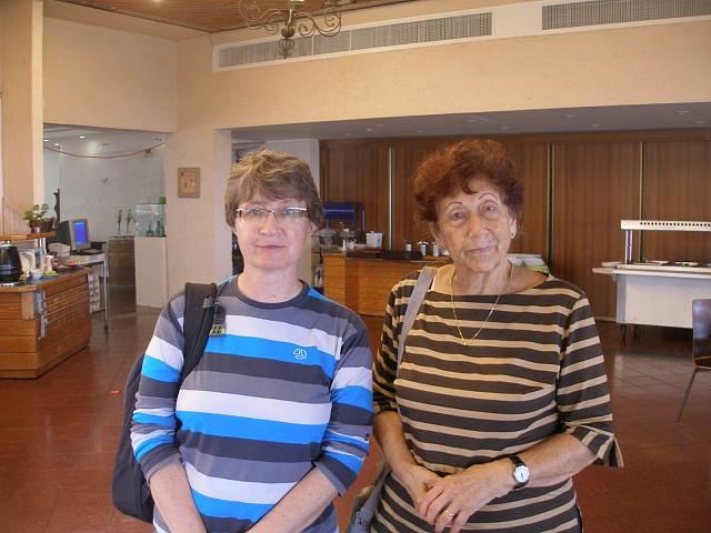 Eva Adorian s Jitkou Radkovičovou, listopad 2013