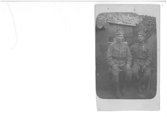 tatínek na frontě v 1. sv. válce