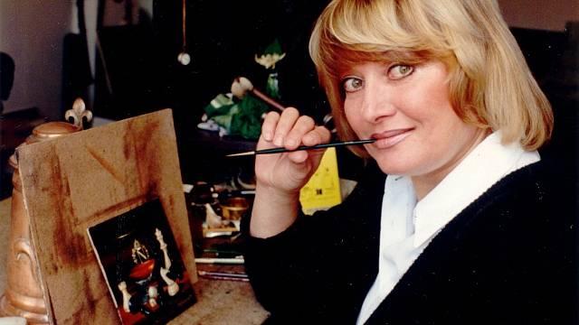 Vlasta Kahovcová získala uznání nejen jako zpěvačka, ale i jako výtvarnice.