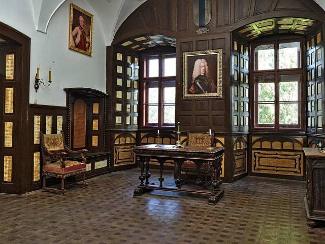 Takhle to vypadá v renesančním zámku Radim.