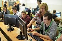 Projektové studio ve Střední průmyslové škole v Mostě.