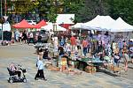 Úterní trh v centru Mostu