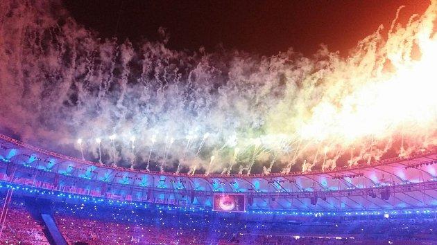 Mostecký atlet Daniel Hýna na zahájení Paralympiády vRiu.