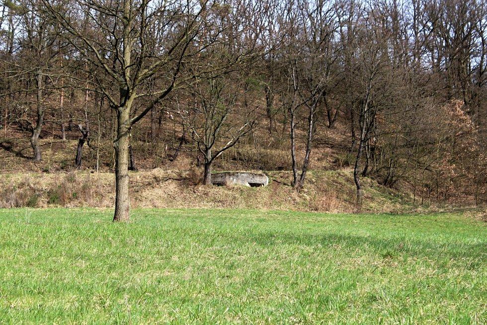 Objekt lehkého opevnění u Rtyně nad Bílinou na Teplicku.