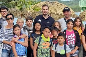 S Kontem našeho srdce vyjelo 16 dětí z Dětského domova v Hoře Svaté Kateřiny do Starých Splavů.