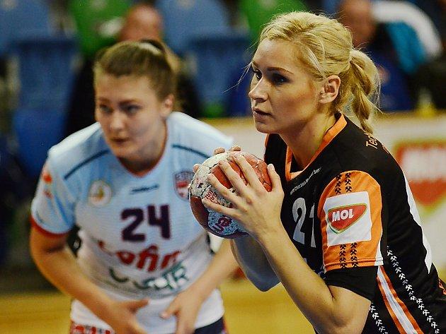 Mostecká Simona Szarková v posledním zápase s Prešovem.
