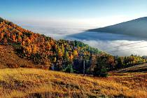 Pohled na Mostecko z Krušných hor.