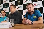 Martin Doubek na tiskové konferenci, kde autodrom oznámil novinku příští sezony.