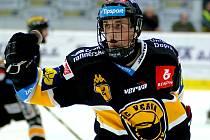 Sedmnáctiletý Kristian Reichel zažil ve Varech extraligový debut. Bohužel body nadějný sportovec neoslavil.