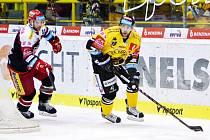 Robin Hanzl v zápase s Hradcem Králové.