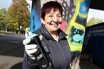 Seniorské graffiti v Litvínově.