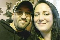 Eliška Bílková se svým manželem.