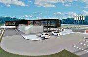 Studie nové motokárové dráhy a jejího zázemí na autodromu v Mostě