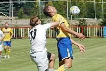 V přípravném duelu v Modré hrály Teplice (ve žlutém) proti Baníku Most.