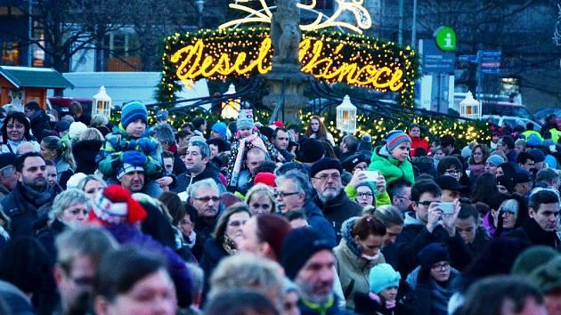 Zahájení Vánočních trhů v Mostě.