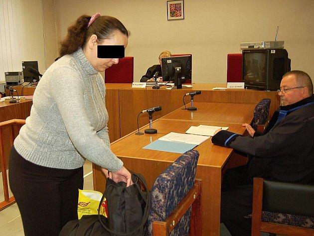 Obžalovaná u mosteckého soudu.