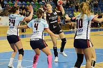 Mostecká Sára Kovářová v domácím zápase s Prešovem.