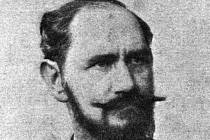 Rytíř Ferdinand Mannlicher, jehož rodina měla mostecké kořeny, na dobovém portrétu.