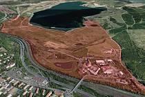 Využití tohoto území u jezera Most navrhne studie. Smlouva je už podepsaná.