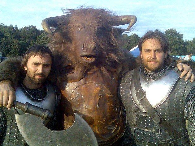 Snímek z natáčení Letopisů Narnie.