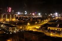 Oslavy příchodu nového roku v Mostě.