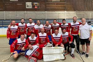 Hokejbalový Team Masters ČR.