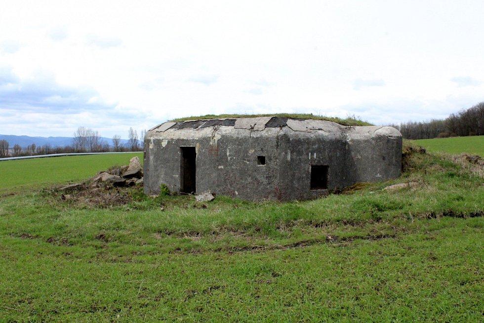 Stejný bunkr při bližším pohledu.