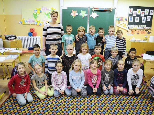 Žáci 1.C Základní školy srozšířenou výukou jazyků Litvínov střídní učitelkou Renatou Čermákovou.