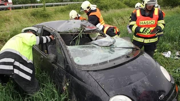 Vážné dopravní nehoda u Třebenic.