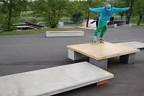 Nový skatepark.