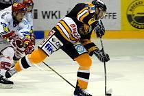 Hokejový zápas Litvínov - Třinec.