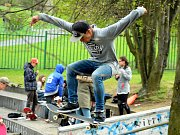 Závody ve skateparku v Mostě.