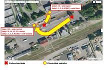 Od pátku 9. dubna došlo k přemístění hzastávky Litvínov - nádraží.