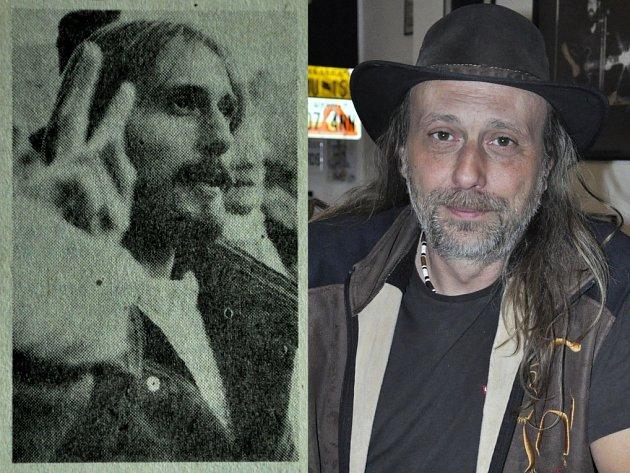 Miroslav Kuželka v listopadu 1989 a v listopadu 2014.